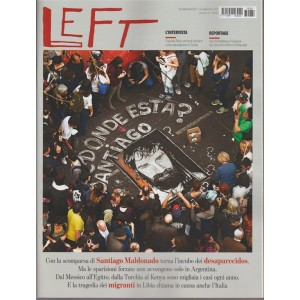 Left - settimanale n. 37 - 16 settembre 2017 Santiago Maldonado