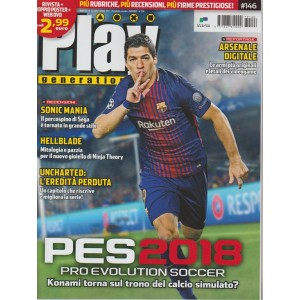 Play Generation - mensile n. 146 Ottobre 2017 - PES 2018 pro evolution Soccer