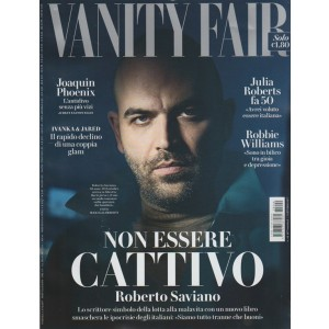 Vanity Fair - settimanale n. 40 - 11 Ottobre 2017 - Roberto Saviano
