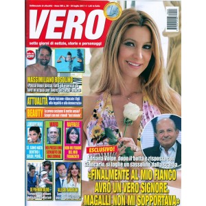 Vero - settimanale n. 28 - 20 luglio 2017 - Adriana Volpe
