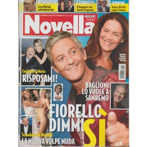 Novella 2000 - settimanale n.41 - 12 Ottobre 2017 - Costanzo a Maria: Risposami!