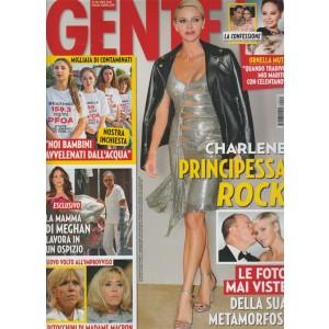 Gente - settimanale n. 41 - 17 Ottobre 2017 Charlene Principessa Rock
