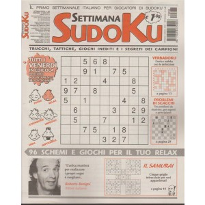 Settimana Sudoku n. 635 - 13 Ottobre 2017
