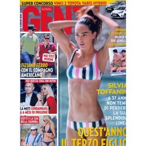 Gente - settimanale n. 29 - 25 Luglio 2017 - Silvia Toffanin terzo figlio