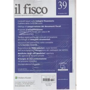 Il Fisco - settimanale n. 39 - 16 Ottobre 2017