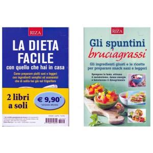 RIZA Offerta  2 Volumi: La Dieta facile & Gli spuntini bruciagrassi