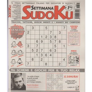 Settimana Sudoku - periodico n. 637 - 27 Ottobre 2017