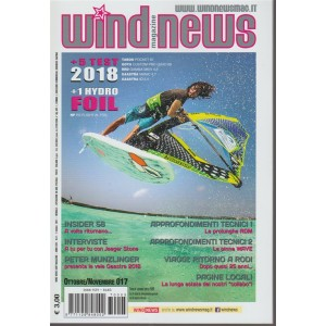 Wind News Magazine - mensile n.8 Ottobre 2017 - Test 2018 Tabou/Goya/Rrd/Gaastra