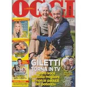 Oggi - settimanale n. 46 - 9 Novembre 2017 Massimo Giletti torna in TV