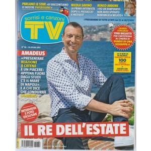 Sorrisi e Canzoni Tv -settimanale n.22 -28 Luglio 2017-Amadeus il re dell'estate