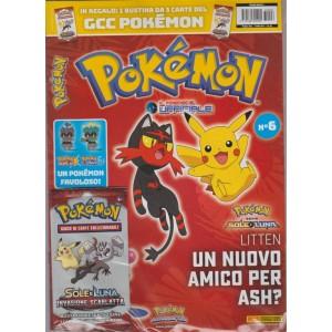 """Pokemon""""il magazine ufficiale""""-bimestrale n.6 Novembre2017+ Bustina Sole & Luna"""