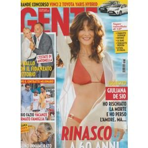 """Gente - settimanale n. 30 - 1 Agosto 2017 - Giuliana Desio """"Rinasco a 60 anni"""""""