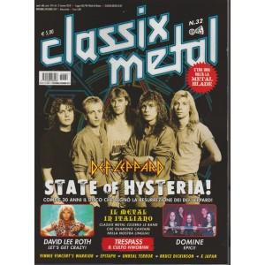 Classix Metal - bimestrale n. 32 Novembre 2017 Def Leppard: State Of Histeria!