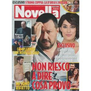 Novella 2000 - settimanale n. 30 - 27 Luglio 2017 - l'Amaro sfogo di Salvini