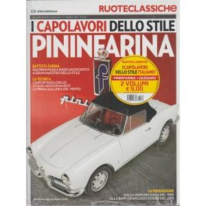 """Ruote classiche""""Capolavori dello stile"""" raccolta 2 volumi - Pininfarina+Giugiaro"""