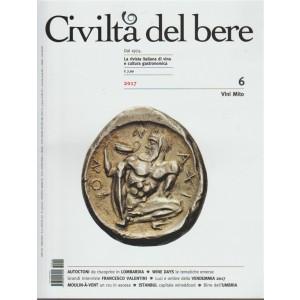 Civiltà del Bere - bimestrale n. 11/12 Novembre 2017 - Vini mito