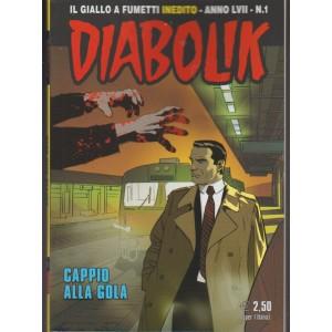 """Diabolik - mensile n. 1 anno LVII - Gennaio 2018 """"Cappio alla gola"""""""