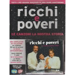 Cd Sorrisi Super -n. 15 - I ricchi e poveri - triplo CD - settimanale - ottobre 2018