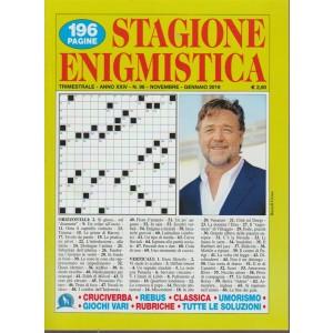 Stagione Enigmistica - n. 96 - trimestrale - novembre - gennaio 2019 - 196 pagine