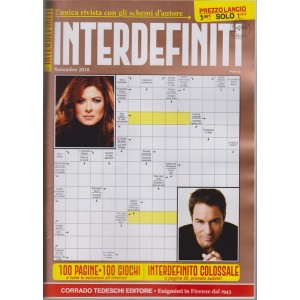 Interdefiniti - n. 5 -mensile - 12/10/2018 100 pagine - 100 giochi