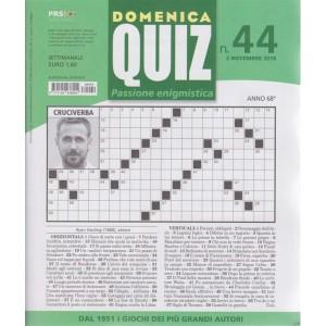 Domenica Quiz - Passione enigmistica - n. 44 - 2 novembre 2018 - settimanale