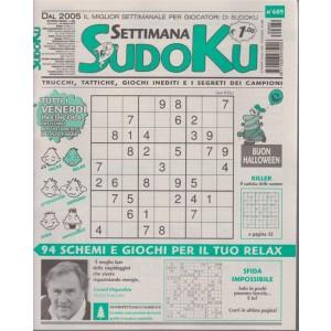 Settimana Sudoku - n. 689 - settimasnale 26 ottobre 2018 - tutti i venerdì in edicola