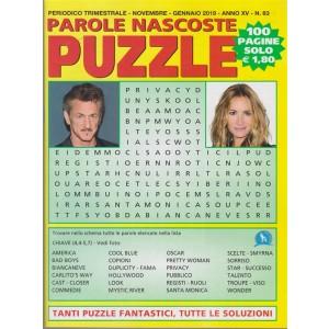 Parole Nascoste Puzzle - n. 63 - trimestrale - novembre - gennaio 2019 - 100 pagine