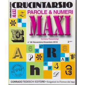 Maxi Crucintarsio -  - Parole & Numeri - n. 66 - novembre - dicembre 2018 - trimestrale -