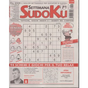 Settimana Sudoku - n. 690 - settimanale - 2 novembre 2018