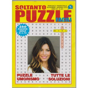 Soltanto puzzle facili - n. 60 - trimestrale - novembre - gennaio 2019 - 260 pagine - Jessica Biel