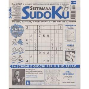 Settimana sudoku -n. 692 - settimanale - novembre 2018