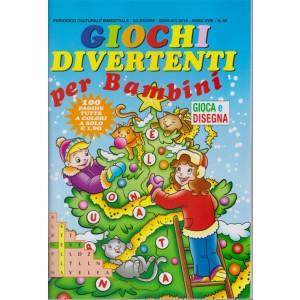 Giochi Divertenti per bambini - n. 86 - bimestrale - dicembre - gennaio 2019 - 100 pagine tutte a colori