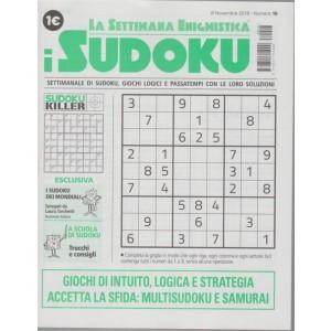 La settimana enigmistica - I sudoku - n. 16 - 8 novembre 2018 - settimanale