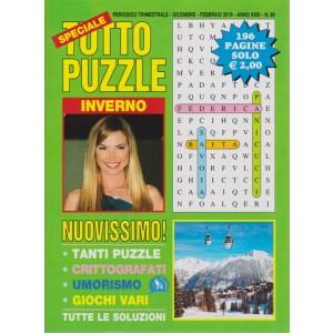 Speciale Tutto Puzzle - n. 89- trimestrale - dicembre - febbraio 2019 - 196 pagine - inverno