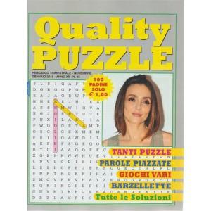 Quality Puzzle - n. 45 - trimestrale - novembre - gennaio 2019 - 100 pagine - Ambra Angiolini