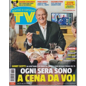 Sorrisi E Canzoni Tv - n. 45 - 6 novembre 2018 - settimanale