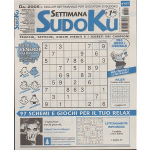 Settimana Sudoku - n. 657 - 16 Marzo 2018