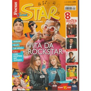 Focus Junior Star - mensile n. 3 Marzo 2018 - Musica, Youtube, cinema, TV