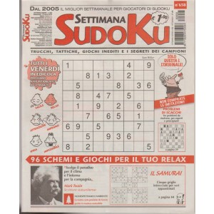 Settimana Sudoku - n. 658  - 23 Marzo 2018