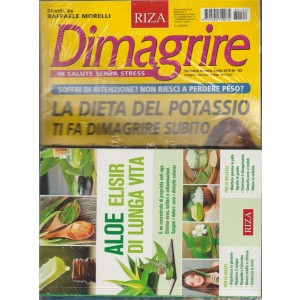 RIZA Dimagrire - mensile n. 192 Aprile 2018 + libro: Aloe elisir di lunga vita