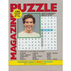 Puzzle Magazine -  n. 163 - periodico trimestrale aprile - giugno 2018