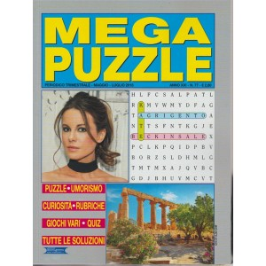Mega Puzzle n. 77 - periodico trimestrale - maggio - luglio 2018