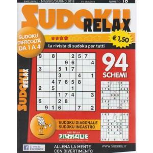 Sudoku relax. n. 18 - bimestrale - maggio/giugno 2018