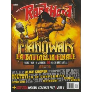 Rockhard Extra - bimestrale n. 19 Gennaio 2018 Manowar la battaglia finale