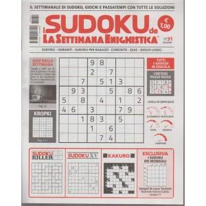 I Sudoku De La settimana enigmistica n. 31 del 3/5/2018 tutti i giovedi in edicola