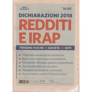 Guida normativa. Dichiarazioni 2018 redditi e Irap - maggio 2018