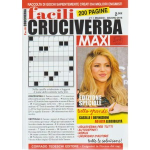 Facili Cruciverba Maxi - n. 1 - maggio - giugno 2018 - bimestrale