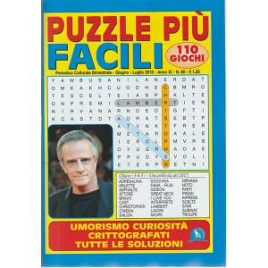Puzzle Piu' Facili - n. 60 - periodico culturale bimestrale - giugno - luglio 2018