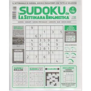 I Sudoku della Settimana enigmistica n. 34 - 24/5/2018 - settimanale - tutti i giovedì in edicola