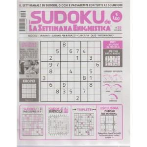 I sudoku de La settimana enigmistica n. 35 - 31/5/2018 - settimanale